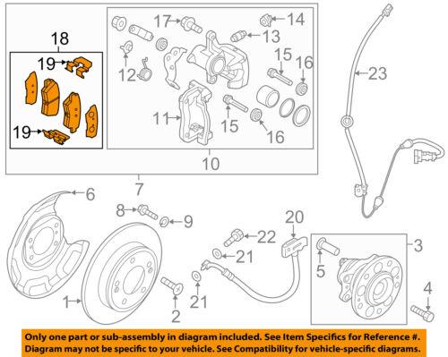 KIA OEM 14-16 Soul Brake-Rear Pads 58302B2A00