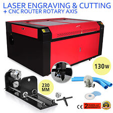 130w Co2 Laser Engraving Cutter Cutting Machine Cnc Rotary Axis Air Assist Great