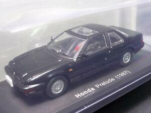 Honda-Prelude-1987-Noir-echelle-1-43-boite-auto-Mini-Affichage-Diecast-vol-86
