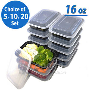 Image Is Loading 16oz Meal Prep Food Containers With Lids Reusable