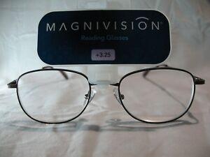 451e01e787f Magnivision Kent FDR Brown Mens Reading Glasses +1.75 2.25 2.75 3.25 ...