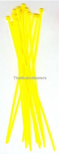 """100 Yellow 6/"""" inch Wire Cable Zip Ties Nylon Tie Wraps 40lb USA Made Tiger Ties"""
