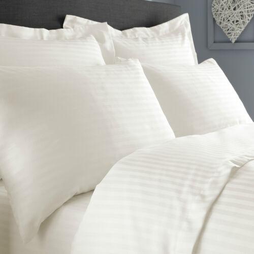 Musbury Fabrics Satin Stripe Percale Bed Linen Euro Pillowcase Pair
