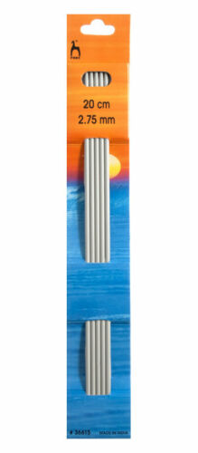 Pony 20cm Set Of 5 Double Pointed Knitting Needles 2.75mm