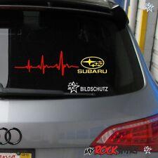 """Herzschlag Aufkleber""""SUBARU"""" ca. 30x7 cm Scheibe Sticker Lack Tuning Windschutzs"""