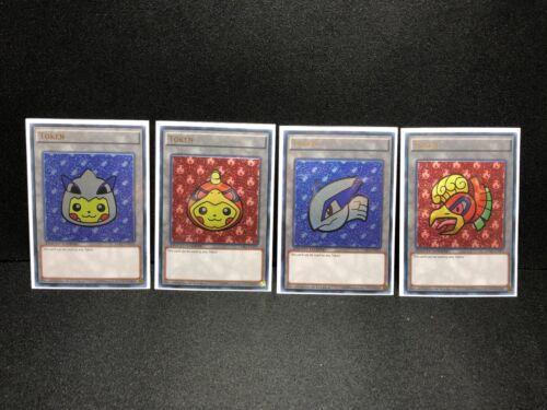 Pikachu Lugia /& Ho-Oh Custom Yugioh Token Ultra Rare Pokemon Anime