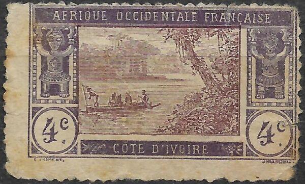 Bon CœUr 1913 Costa De Marfil. Laguna De Ebrié. La Qualité D'Abord