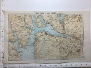 Estuary-of-the-Clyde-Antique-Map-c1900-Scotland-Atlas-Rothesay-Loch-Lomond