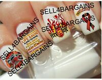 Support Fire Fighters》fire Life》fire Dept》flames Flaming Tattoo Nail Art Decals