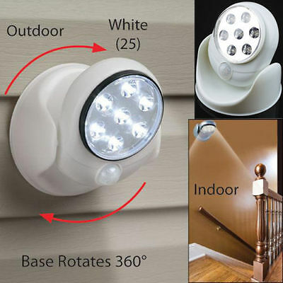 Motion Activated Sensor Stick Up LED Light As Seen On TV Cordless BU