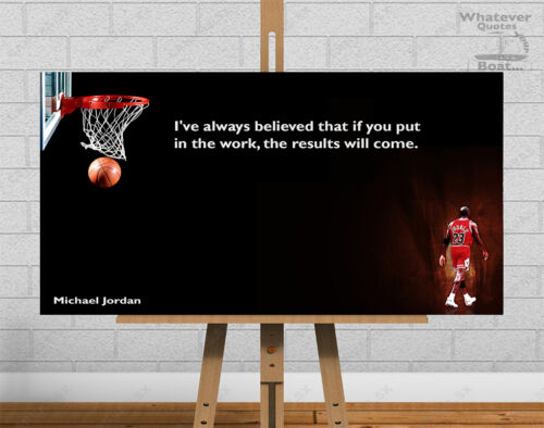 Michael Jordan Poster Print Quote Picture Wall Art Canvas Life Gift All Sizes