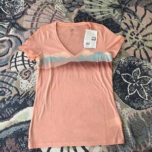3871a60862c Icebreaker Women s Tech SS V NeckMisty Horizon wool tee T Shirt Top ...