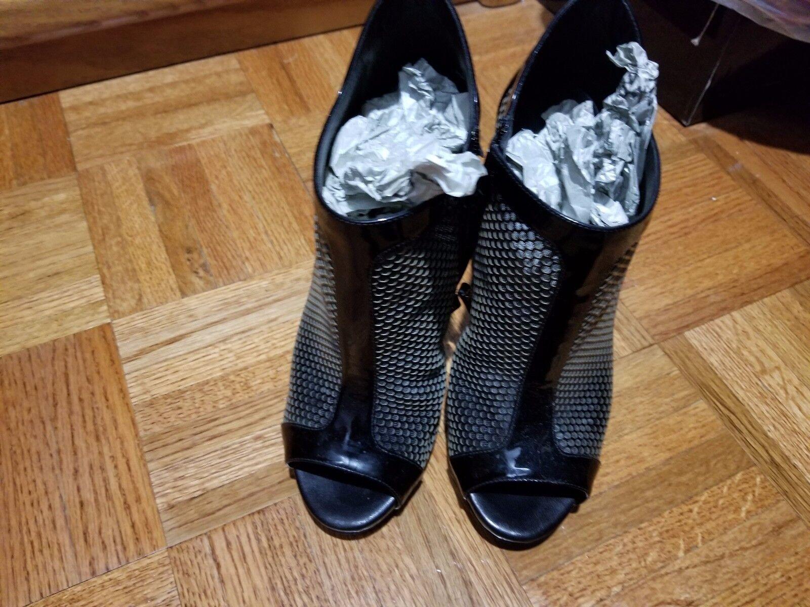 Giuseppe Zanotti booties mesh black black black patent high heels 39 ankle  boots 8b0265