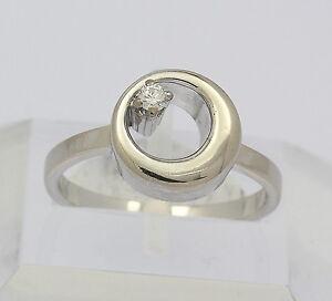 Ring-in-aus-750er-18kt-Weiss-Gold-mit-Brillant-Brilliant-Diamant-Brillanten-Gr-50
