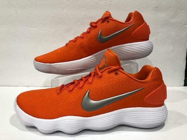 Nike React Hyperdunk bajo Baloncesto Zapato Clemson Naranja 942774 801 hombres