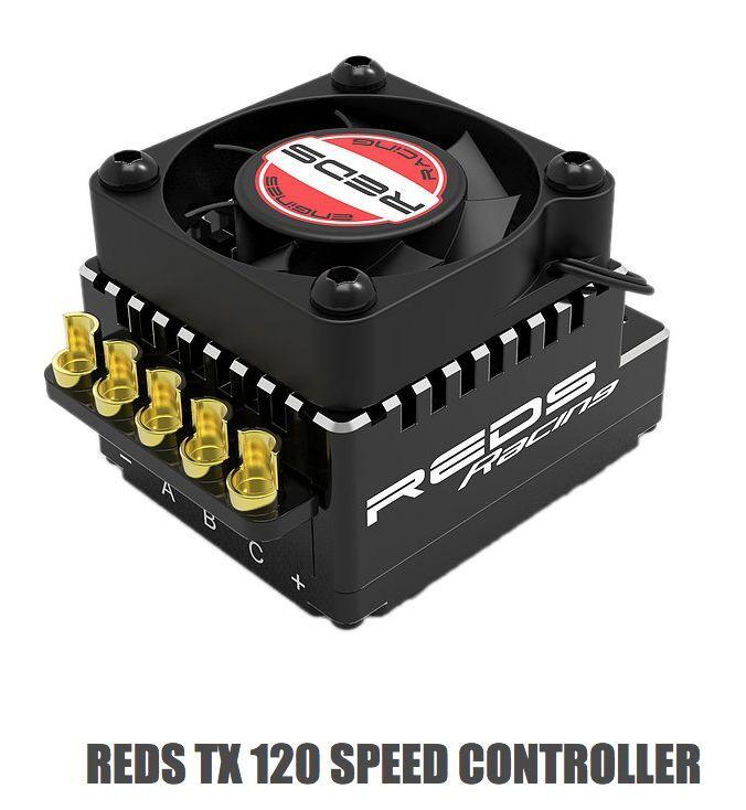 Regolatore Brushless rossoS TX 120  SPEED CONTROLLER  risparmiare fino all'80%