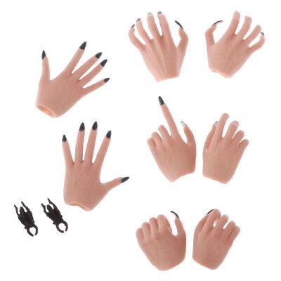 1//6 White Female Model Gloves Hands for 12 inch JO PH TBL Phicen//Kumik Doll