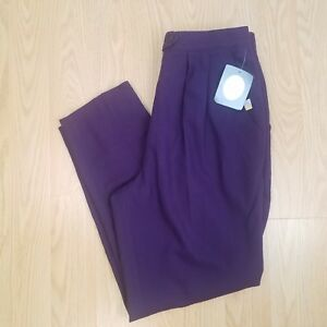 3e71a3b7f73 Image is loading Vintage-Deadstock-NWT-Christian-Dior-Wool-Purple-Size-