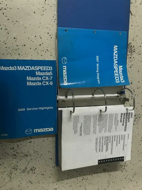 2007 Mazda 3 Mazdaspeed3 Service Repair Shop Workshop Manual Set Binder Edi