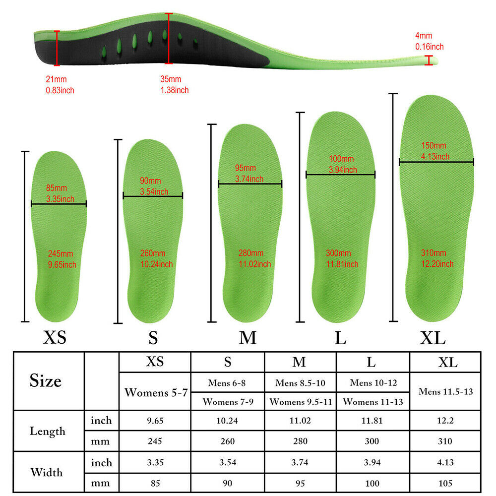 2PCS Insoles Inserts Arch
