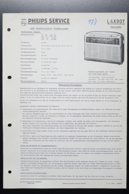 Philips L4x90t Henriette Original Service Manual  Manual