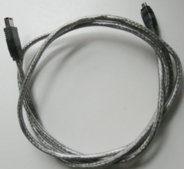 Clear Ieee-1394 Firewire Ilink 6 Pin To 4 Pin M/m Cable In Very Good Condition. Goed Voor Energie En De Milt