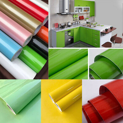 3M Roll Kitchen Cabinet Refacing Film High Gloss Vinyl Self Adhesive  Wallpaper | eBay
