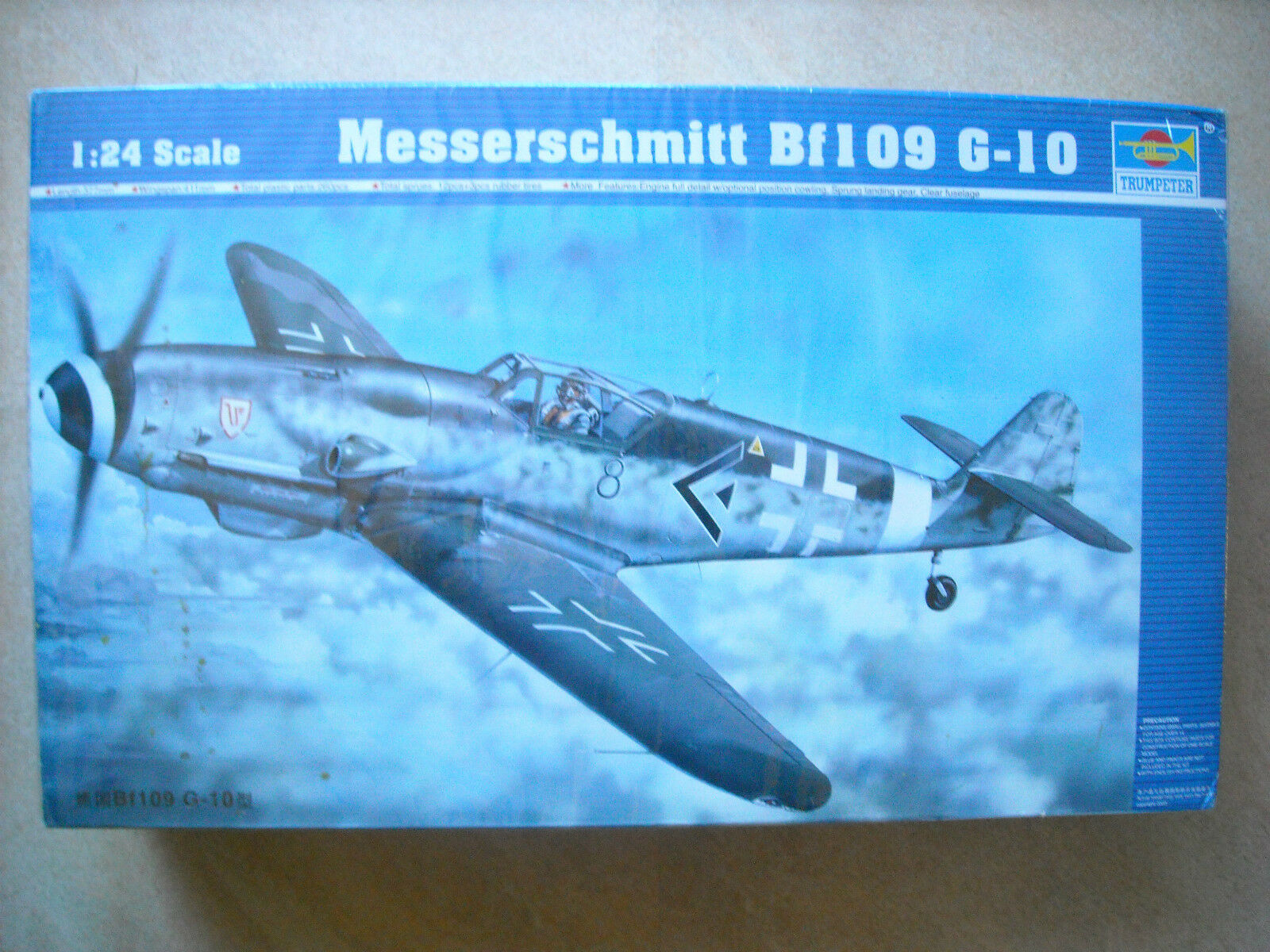 02409 Trumpeter 1 24 Model Messerschmitt BF109 G-10 Plastic Plane Fighter Jet