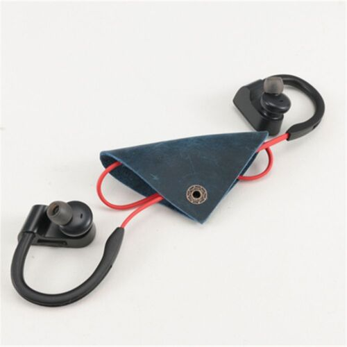 Leather Cable Cord Wire Organizer Bobbin Winder Smart Wrap Headphone Earphone