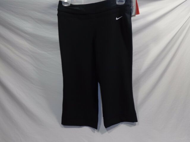 Nike Dri Fit Running Yoga Pants Capris 339512 Black Small For Sale Online Ebay