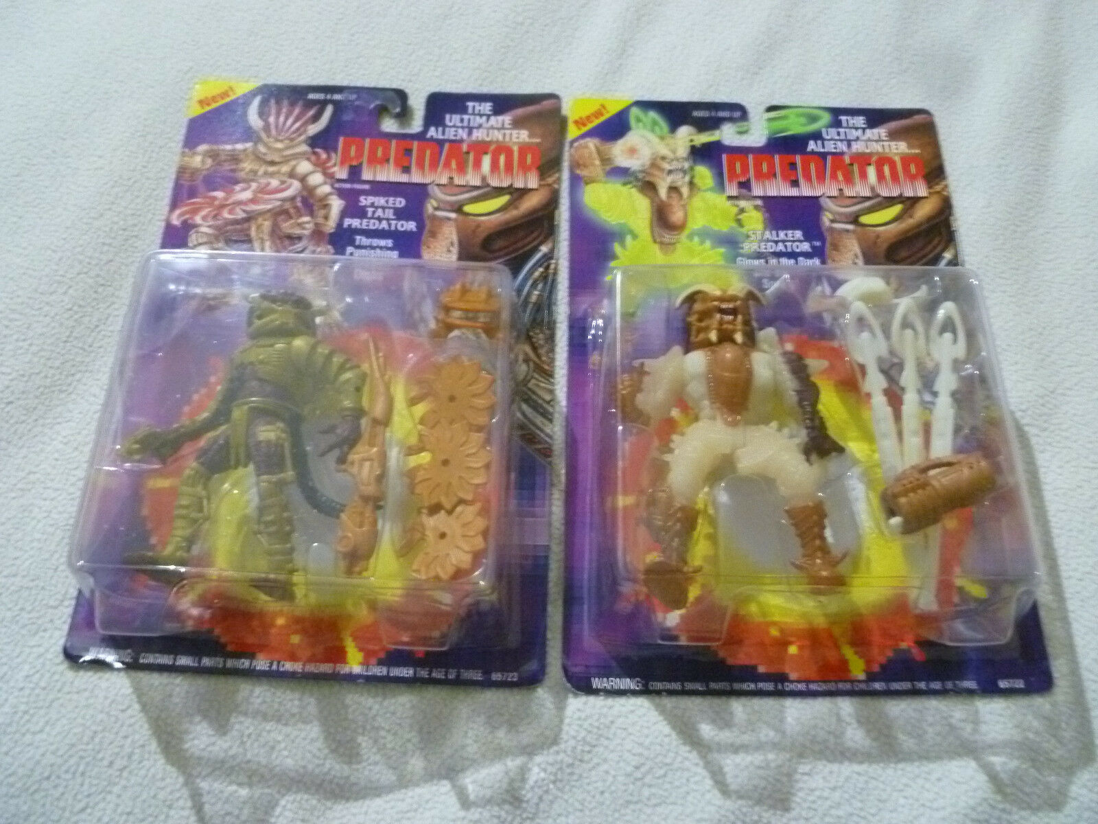 NEW NEW NEW PREDATOR ACTION FIGURE LOT OF 2 STALKER SPIKED TAIL 65722 65723 1994 KENNER caa46f
