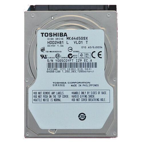 "Toshiba 640GB MK6465GSX 5400RPM 2.5"" SATA Hard Drive For IBM ThinkPad Laptop"