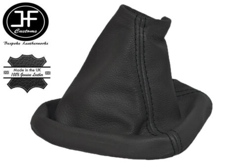 FITS VOLVO S80 1998 PRESENT GEAR GAITER REAL LEAHER BLACK STITCHING