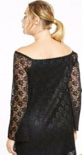 By Curve 10 Ls078 Black Size V Very Gg Pleated Tunic Lace Swing 22 O8nwP0k