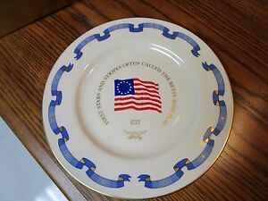 BETSY-ROSS-FLAG-COLLECTOR-PLATE-BY-PICKARD-DANBURY-MINT-BX