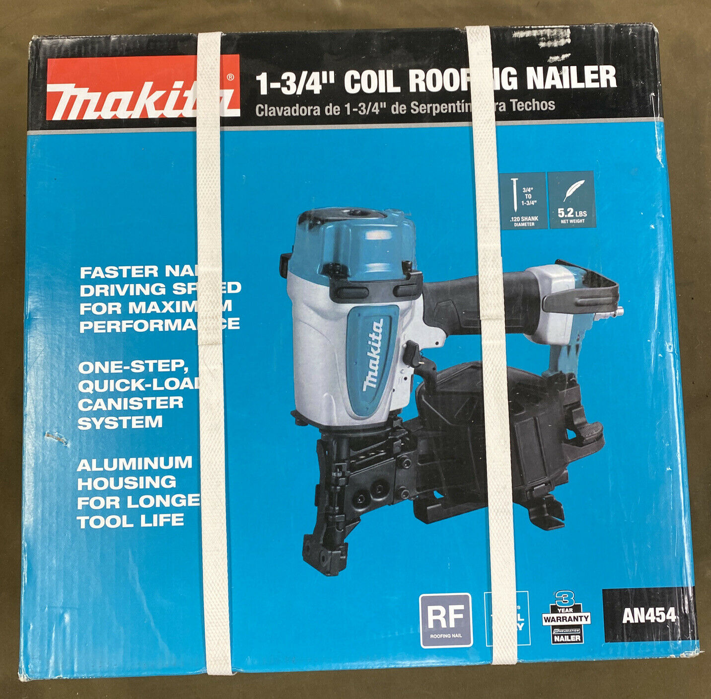 AN454, AN454-R superdealer5 Makita (AN454) - 1-3/4 inch Roofing Coil Nailer....NEW!!!....FREE S&H!!