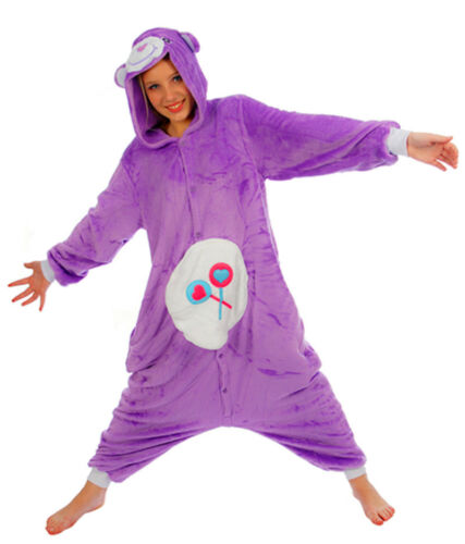 Unisex Care Bear Onesiee Kigurumi Fancy Dress Costume Hoodies Pyjama Sleep wear
