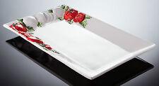BASSANO große rechteckige Tomaten Servierplatte 45x26 italienische Keramik  Neu