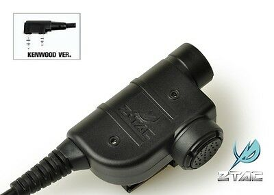 ZTAC / Z-Tactical Z125 Silynx Style PTT for KENWOOD 2 Pins Radio Headset