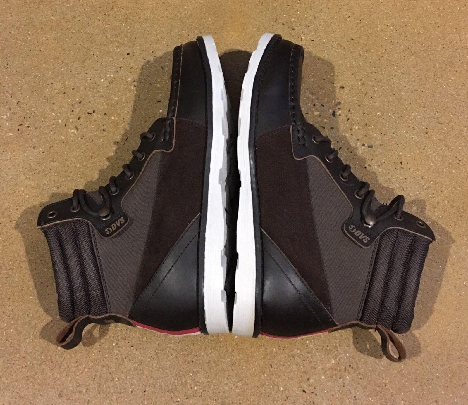 DVS Bishop Boots Men's Size 7.5 US Brown Leather Cordura BMX DC Skate Chukkas