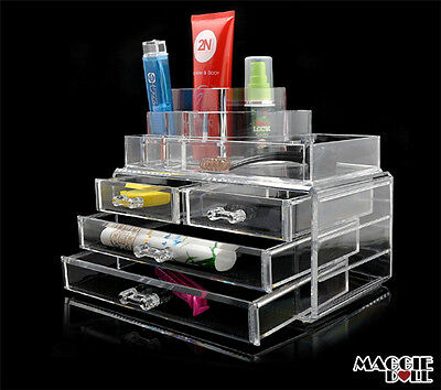 Acrylic Makeup Make Up Lipstick Display Stand Holder Cosmetic Storage 1