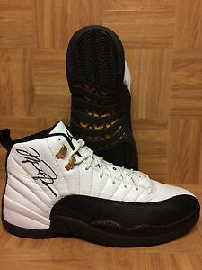 new product 17b11 a614b Details about RARE🔥 Michael Air Jordan Nike Retro XII Taxi Countdown  Autographed Shoes Sz 12