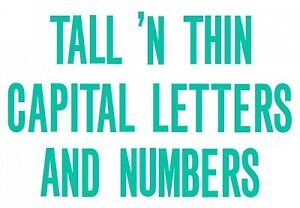 Sizzix Bigz XL Tall /'n/' Thin Capital Letters die #A11285 MSRP $69.99 FREE SHIP