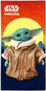 "NEW NWT Mandalorian Baby Yoda Beach Bath Towel 28/""x58/"""