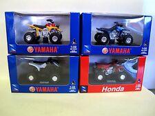 NewRay 1:32 Konvolut Quad   3x YAMAHA + 1x Honda  NEU in OVP