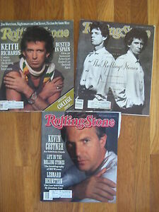 Lot-of-3-vintage-ROLLING-STONE-MAGS-Mick-Jagger-Keith-Richards-1988-1989-1990