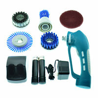 Rechargeable Power Scrubber For Kitchen 2 Batteries + 4 Brushes + 1 Scouring Pad