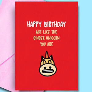 Image Is Loading Rude Funny Happy Birthday Card For Ginger Hair
