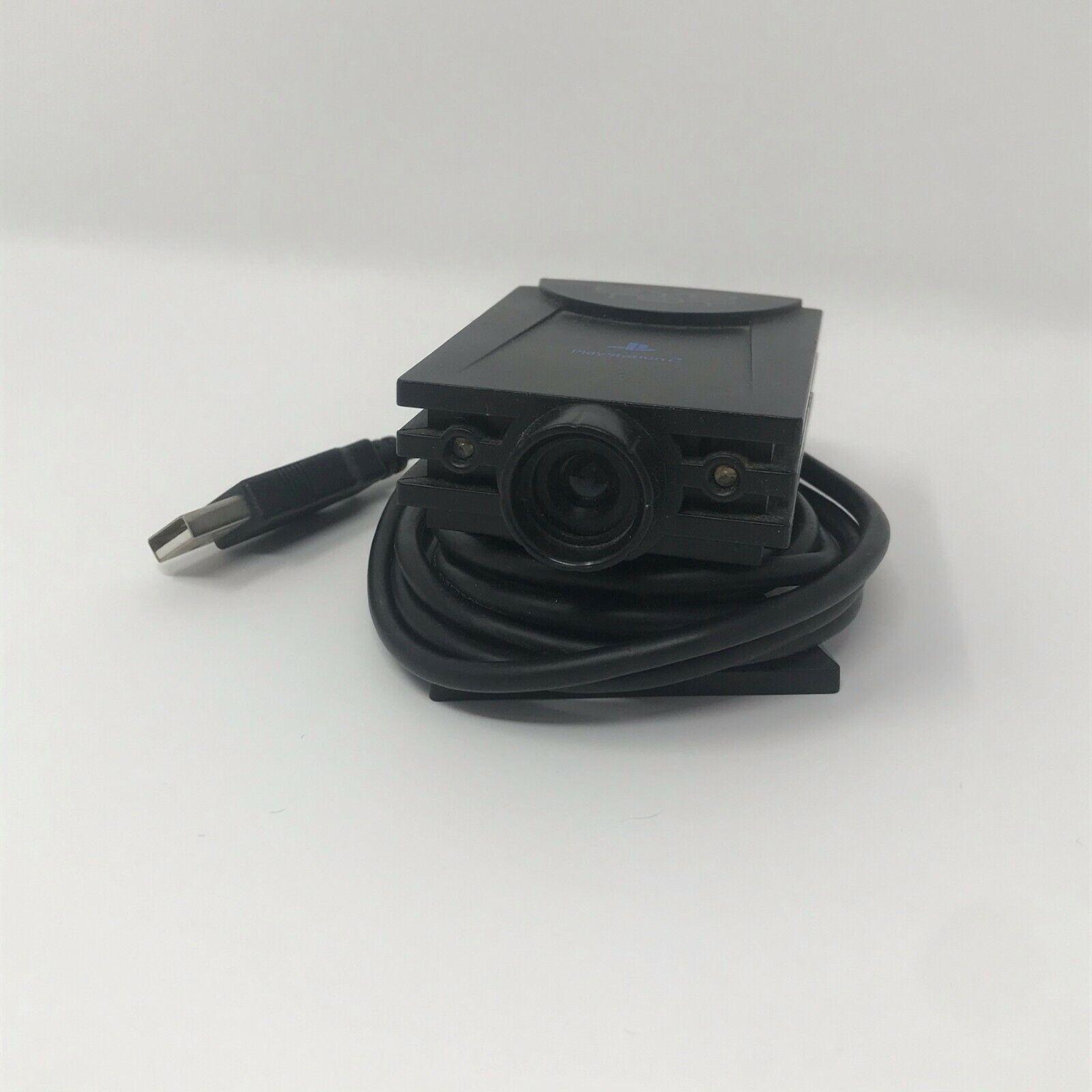 PS2 Black Eye Toy USB Camera - Playstation 2 + Eye Toy Play Game PS2