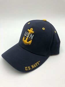 U-S-NAVY-USN-Chief-Baseball-Cap-Hat-US-NAVY-Military-Uniform-F-All-Size